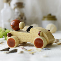 Handmade Maple Wood Dhoom Toy Car