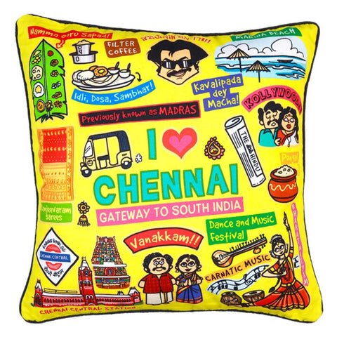 Cushion Cover - Chennai (Coloured)
