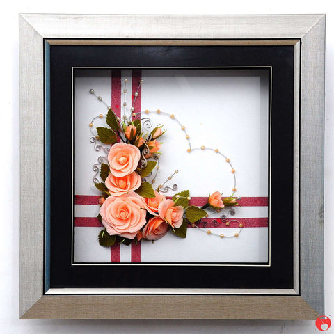 Handcrafted Indie Roses Frame