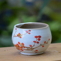 Cherry Tree Ceramic Pot