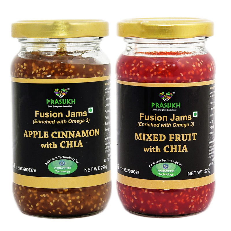 Chia Apple Cinnamon Jam & Chia Mixed Fruit Jam