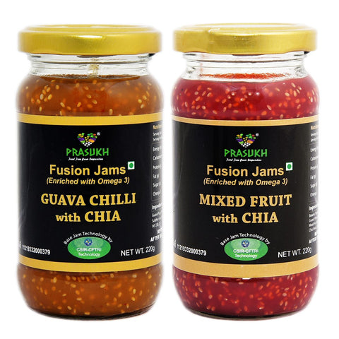 Chia Guava Chilli Jam & Chia Mixed Fruit Jam