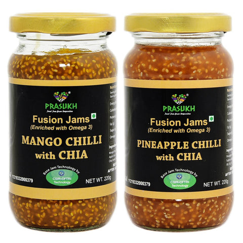 Chia Mango Chilli Jam &  Chia Pineapple Chilli Jam
