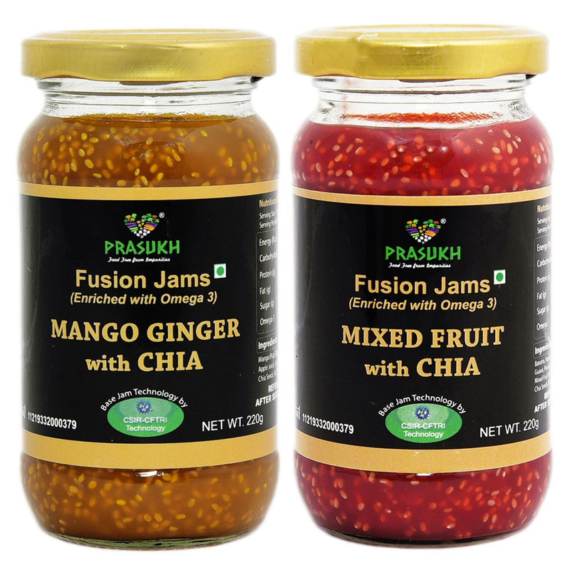 Chia Mango Ginger Jam & Chia Mixed Fruit Jam