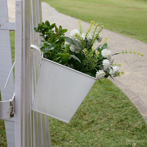 Handpainted Square Railing Planters