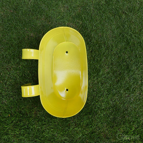 Plain Oval Railing Planter - Yellow