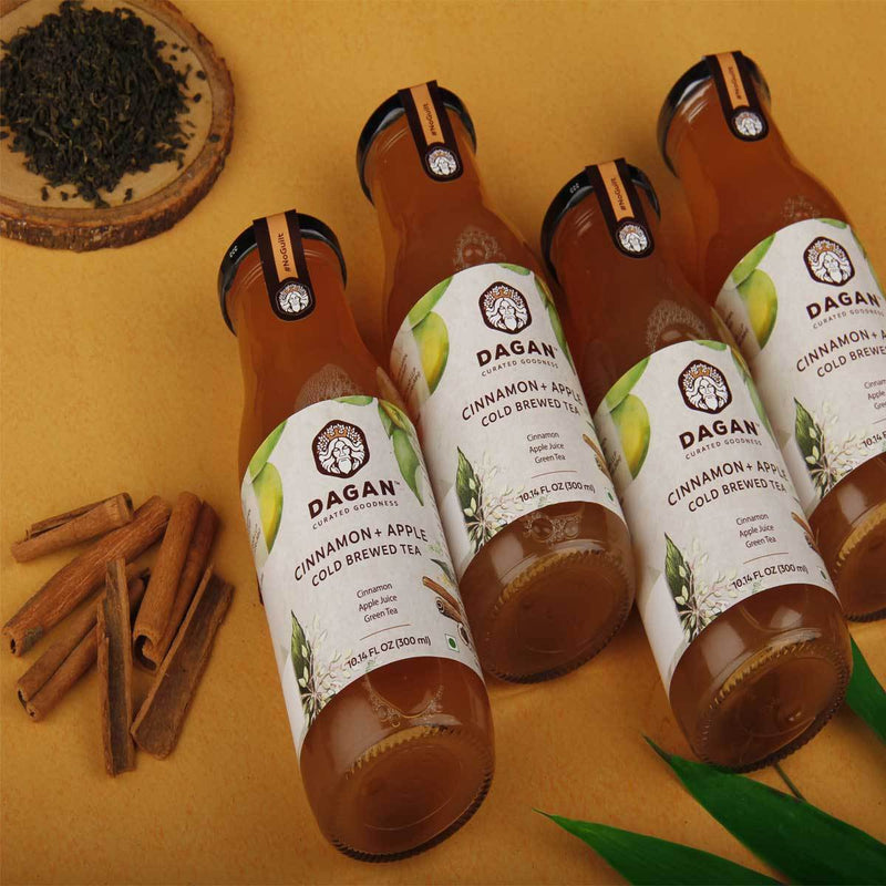 Cinnamon + Apple Cold Brewed Tea (Pack of 4)