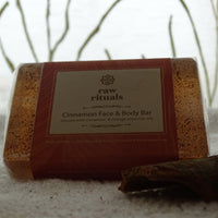 Handcrafted Cinnamon Face And Body Soap Bar - Pack of 2