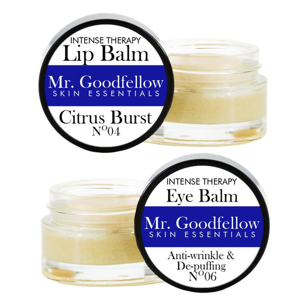 Men's Citrus Burst Lip Balm & Under-Eye Balm Intense Therapy Set at Qtrove
