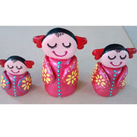 Hand Painted Clay Dolls Statues