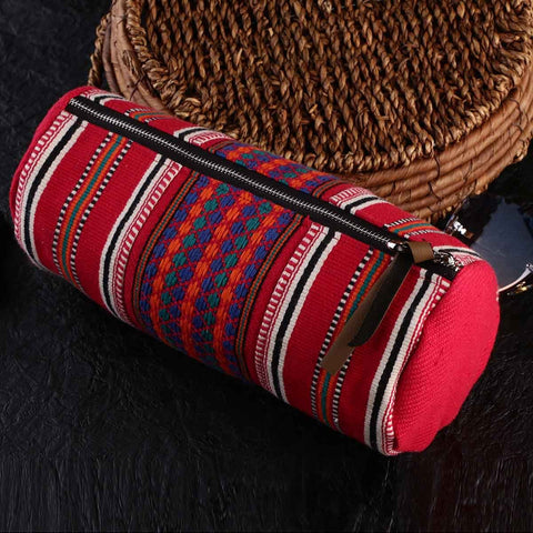 Handcrafted Multipurpose Travel Pouch - Vibrant Red CP_IG_POUCH_Red_42