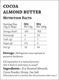 Sugar-Free Cocoa Almond Butter