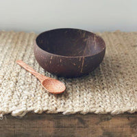 Eco friendly Coconut Shell Bowl With Spoon made from original coconut shell