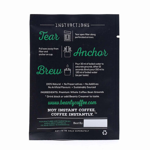 Coffee Single-Serve Pour-Over with Sweetened Creamer  Organic Blend (Pack of 10)