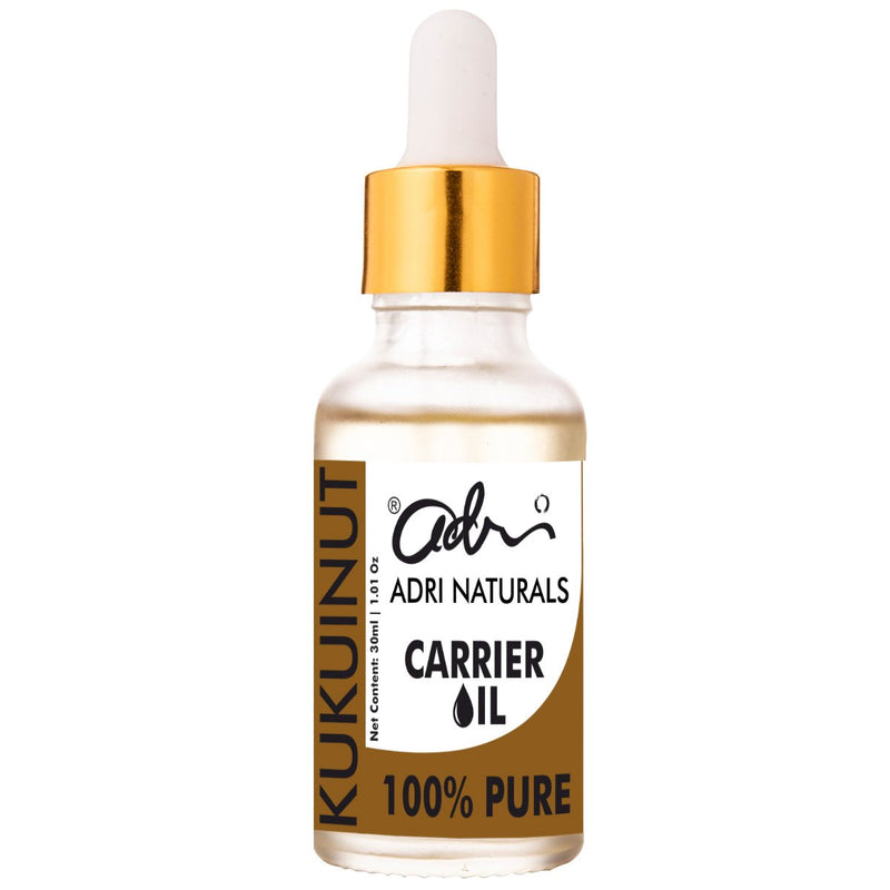 Cold Pressed Kukui Nut Oil (100% Pure & Natural)