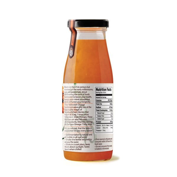 Cold Pressed Sea Buckthorn Berries + Apple Juice (Pack of 6) at Qtrove