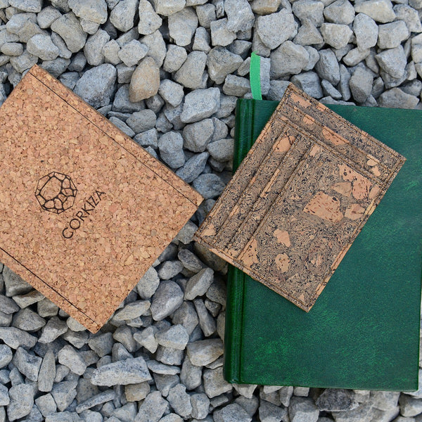 Handcrafted Cork Leather Card Wallet at Qtrove