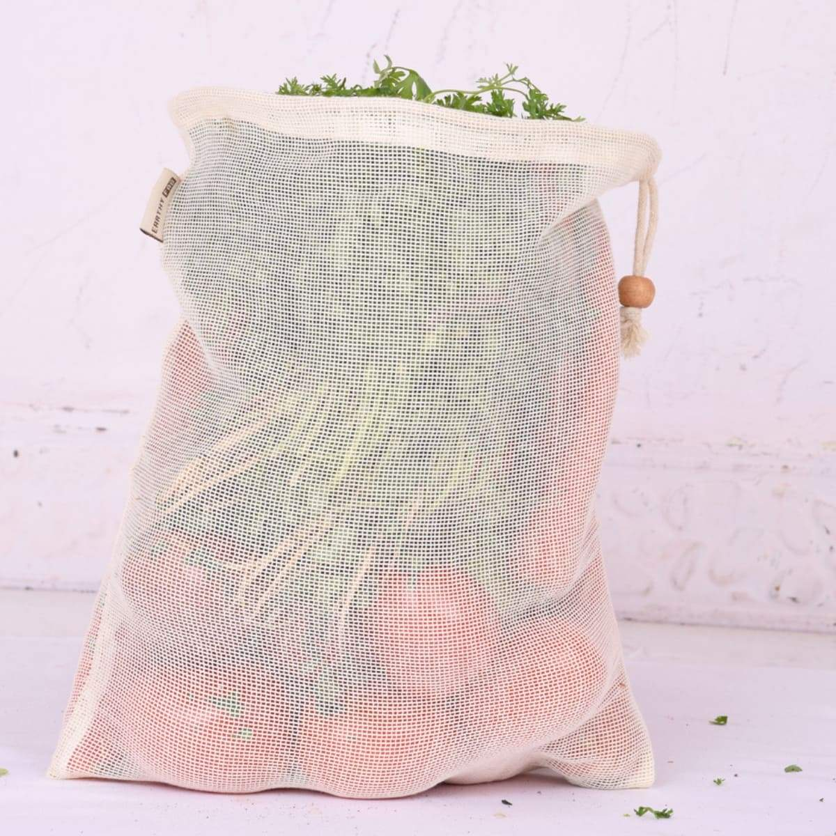 Cotton Net Produce Storage Bags (Eco-Friendly, Multipurpose & Reusable Net Bags)