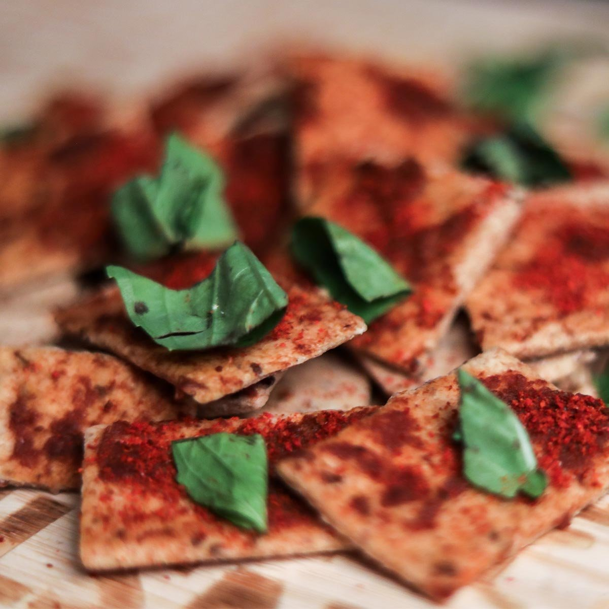 Sundried Tomato And Basil Crackers