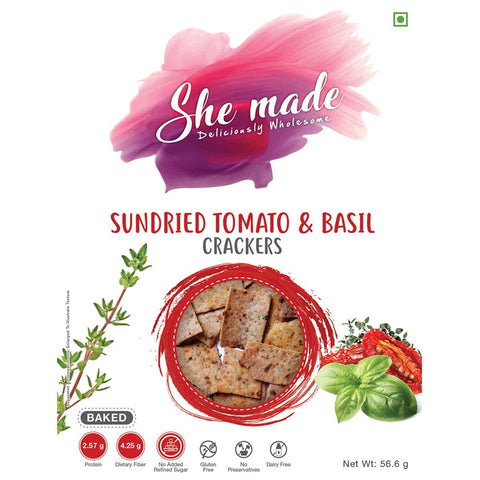 Sundried Tomato And Basil Crackers - Pack Of 2