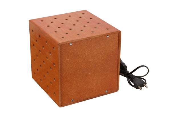 Creative Orange Dice Wooden Table Lamp at Qtrove