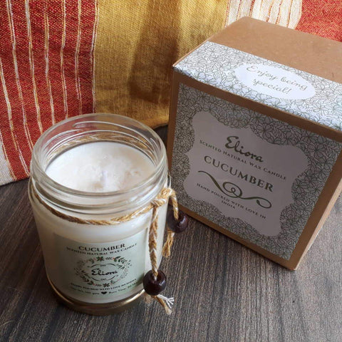 Cucumber Scented Natural Wax Candle