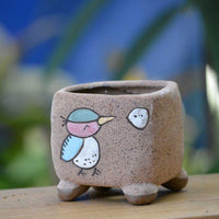 Cute Chatty Bird Ceramic Pot
