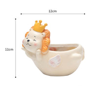 Cute Flying Lion Resin Succulent Pot