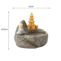 Cute Monk Meditating Resin Succulent Pot