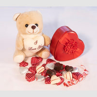 Cute Teddy with Chocolates for your Love