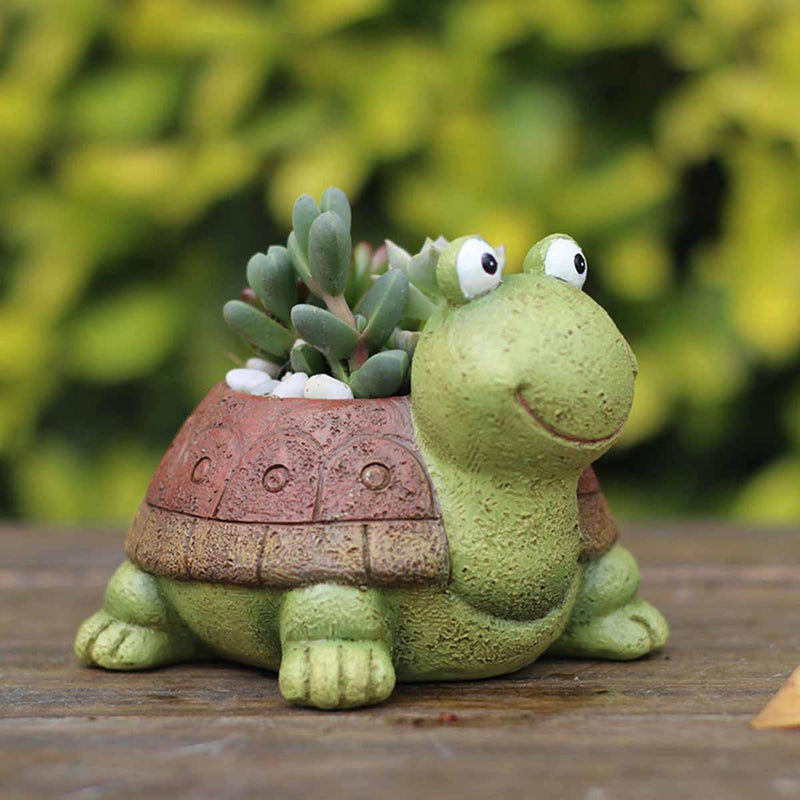Cute Tortoise Resin Succulent Pot