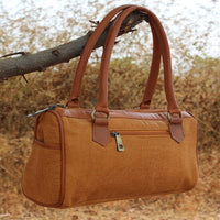 Crafted Digital Print Duffle Bag (Brown)