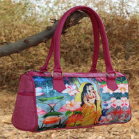 Crafted Digital Print Duffle Bag (Pink)