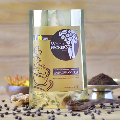 Woodi Peck's Premium Coffee with 20% Chicory