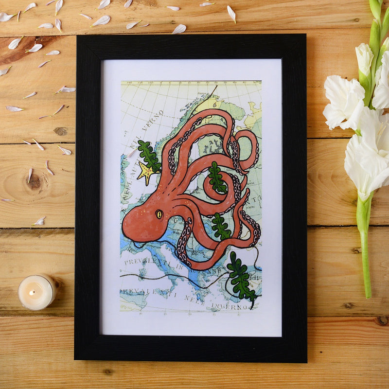 Octopus Framed Wall Art
