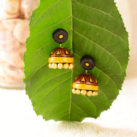Eco-Friendly Cooper Shade Terracotta Jhumka