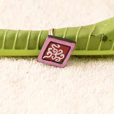 Eco-Friendly Maroon And Pink Terracotta Ring