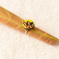 Eco-Friendly Yellow And Orange Terracotta Ring