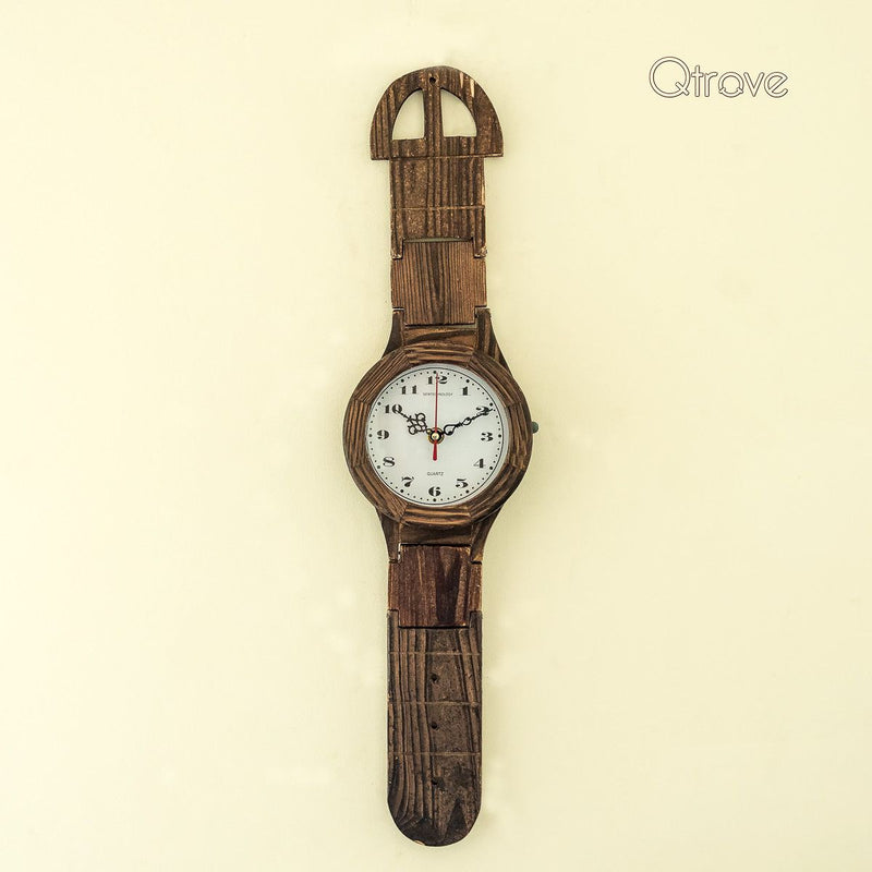 Wrist Watch Pattern Rosewood Wall Clock (20 inches)