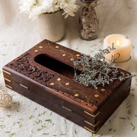 Handmade Wooden Tissue Holder