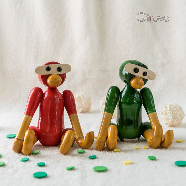 Wooden Decorative Monkey Mobile Holder (Set of 2)