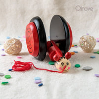 Handmade Wooden Snail (Red)