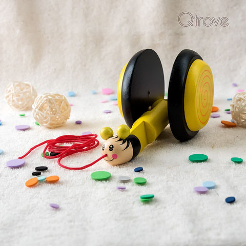 Handmade Wooden Snail (Yellow)