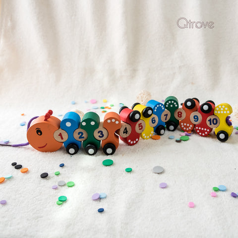 Handcrafted Caterpillar Train