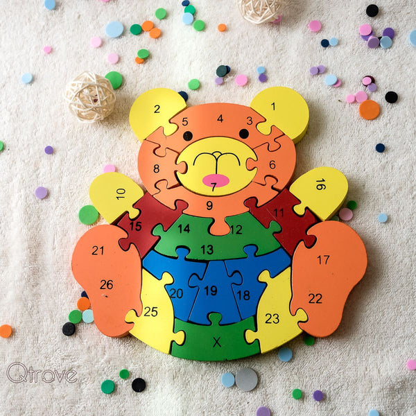 Handmade Wooden Bear Puzzle