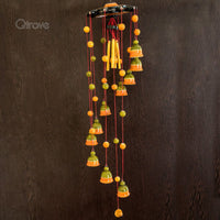 Wooden Wind Chimes with Wooden Birds (Green)