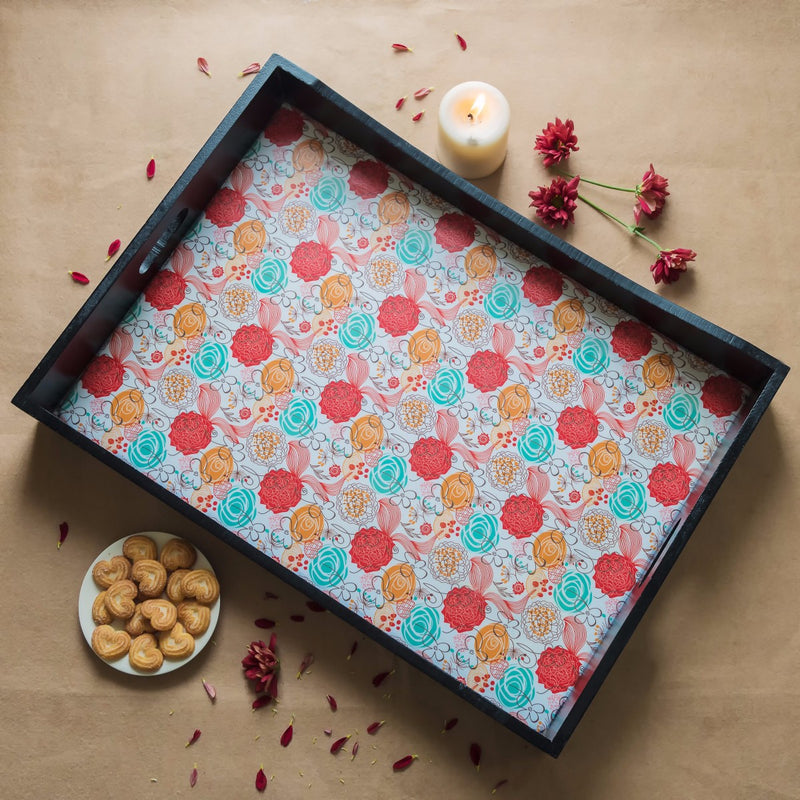 Handcrafted Classic Blossoms Breakfast Tray