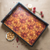 Handcrafted Shades of Autumn Breakfast Tray