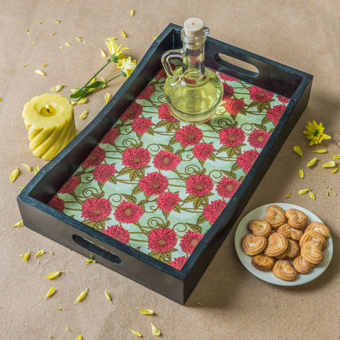 Handcrafted Chrysanthemum Breakfast Tray