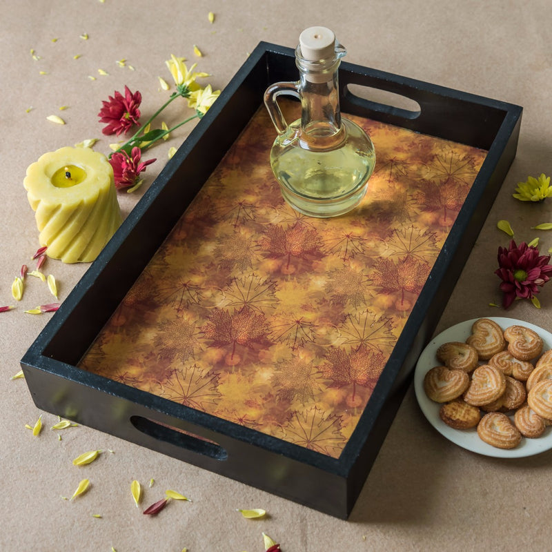 Handcrafted Shades of Autumn Large Tray
